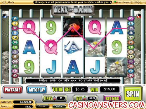 beat the bank video slot machine