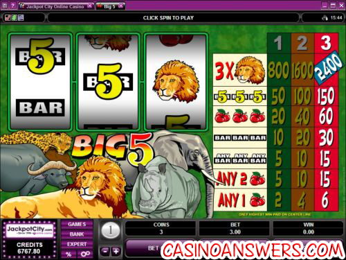 big 5 classic slot machine