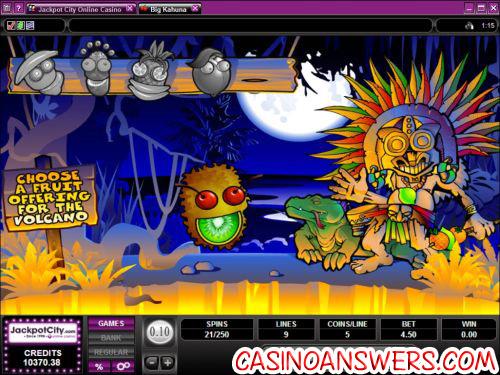 big kahuna video slot bonus game