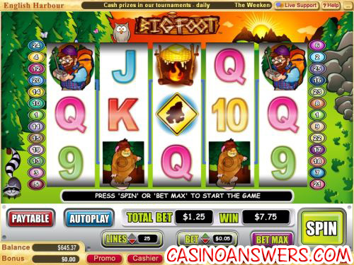 big foot video slot