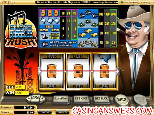 black gold rush slot machine