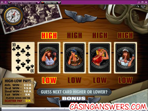 bomber girls slot bonus game