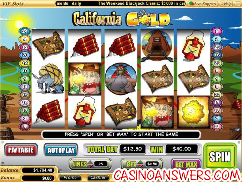 california gold vegs tech video slot 1