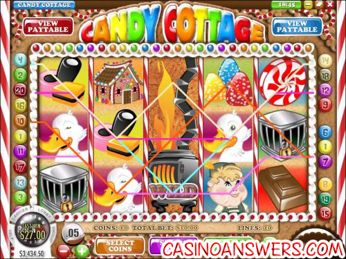 candy cottage video slot