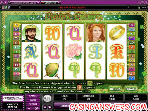 celtic crown video slot