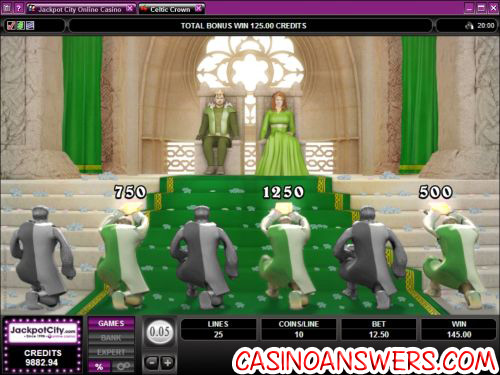 celtic crown slot bonus game