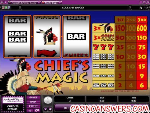 chiefs magic classic slot machine