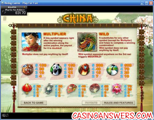 china megawild bonus game