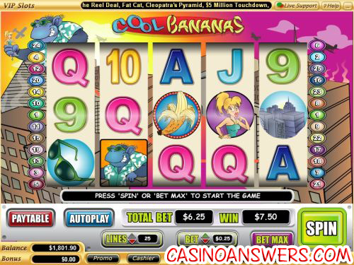 cool bananas video slot