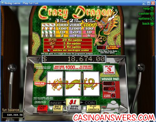 crazy dragon progressive jackpot slot machine