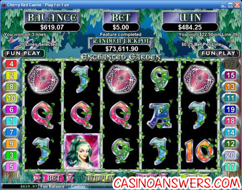 enchanted garden video slot