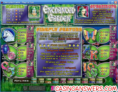 enchanted garden bonus game