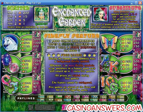 enchanted garden bonus game