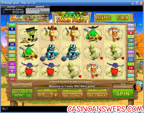 freaky wild west ctxm video slot
