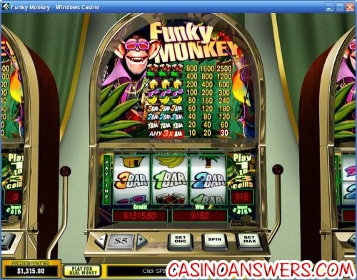 funky monkey classic slot machine