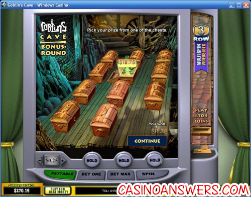 goblins cave casino bonus game