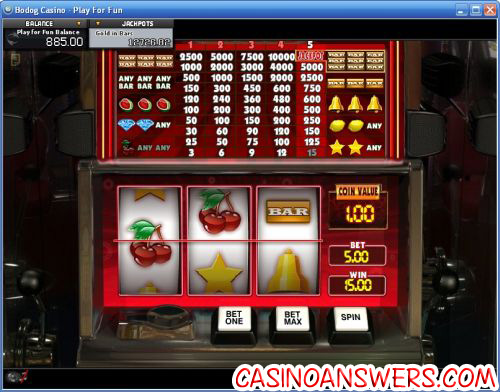 gold in bars progressive jackpot