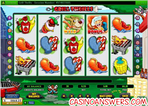 grill thrills video slot