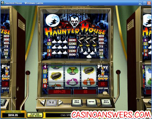 haunted house playtech slot machine