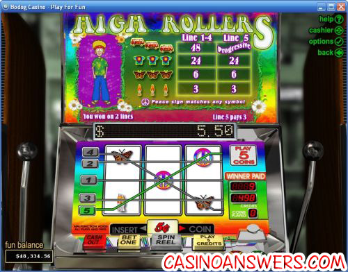 high rollers bonus slot machine