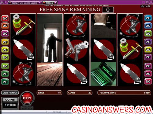hitman video slot screenshot 1