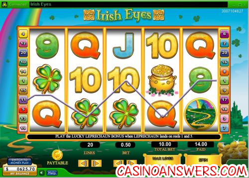 irish eyes video slot