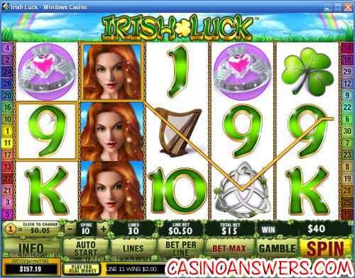 irish luck video slot
