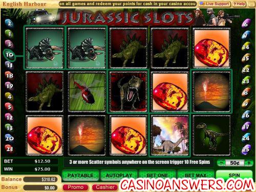 jurassic park slots machine 1