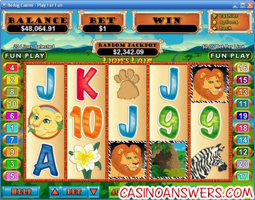 lions lair slot machine