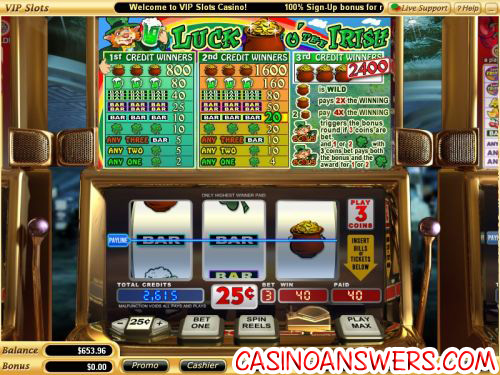 luck o the irish slot game