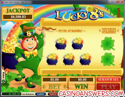 lucky 8 scratch card review
