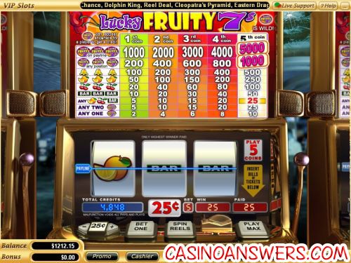 lucky fruity 7s classic slot machine