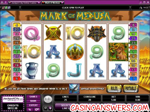 mark of medusa video slot