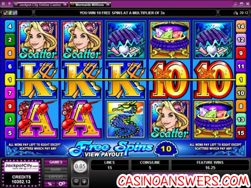 mermaids millions video slot