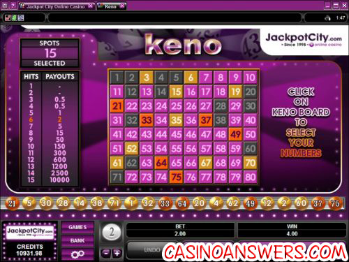 microgaming keno review online