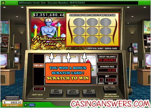 millionaire genie slot machine progressive jackpot
