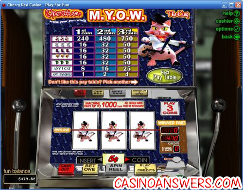 operation myow classic slot machine game