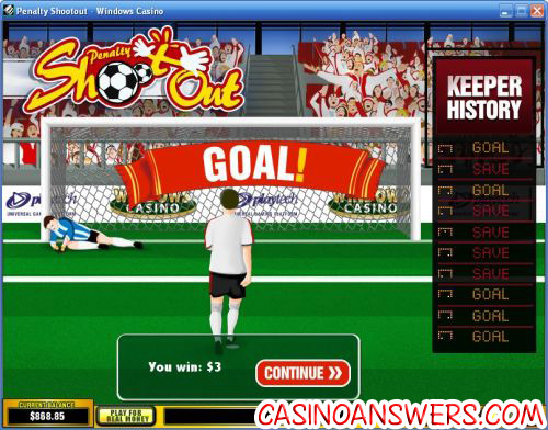 Play Penalty Shootout Arcade Games at Casino.com