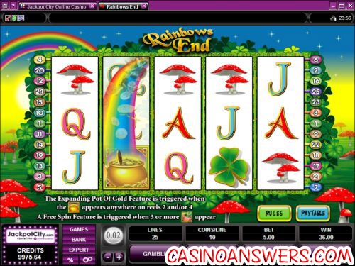 rainbow ends video slot
