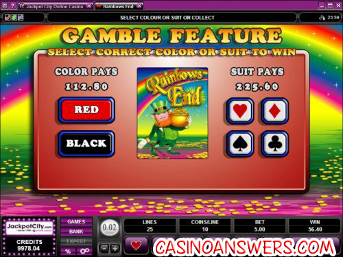 rainbow ends casino bonus game