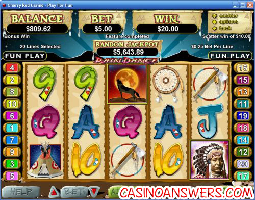 raindance video slot