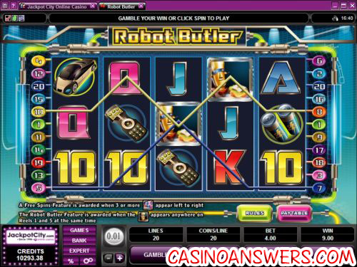 robot butler video slot 1