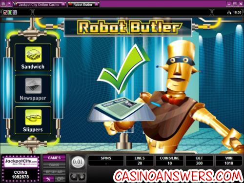 robot butler video slot 2