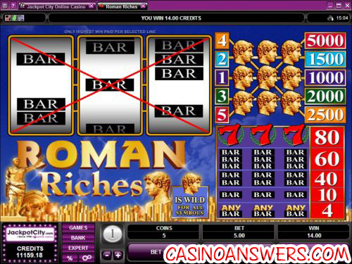 roman riches microgaming slot machine