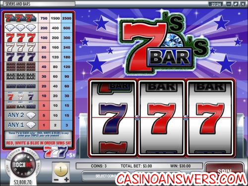 sevens and bars classic slot machine