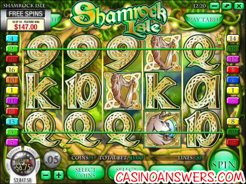 shamrock isle video slot