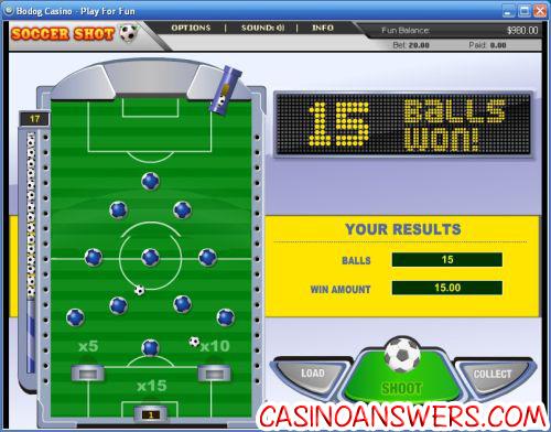soccer shot potshot casino game