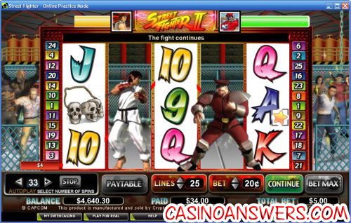 street fighter video slot 2