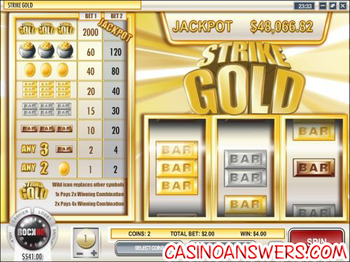 strike gold slot machine progressive jackpot