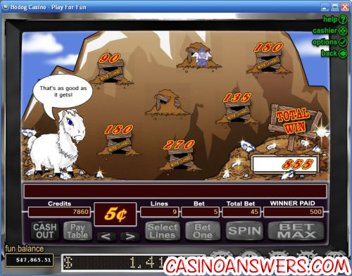 Super Diamond Mine Casino Bonus Game